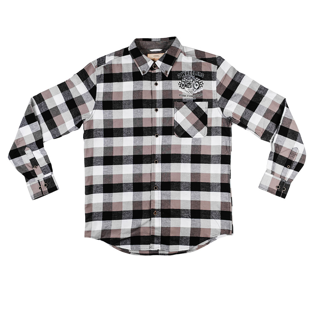 2 Wheelers Button-Up