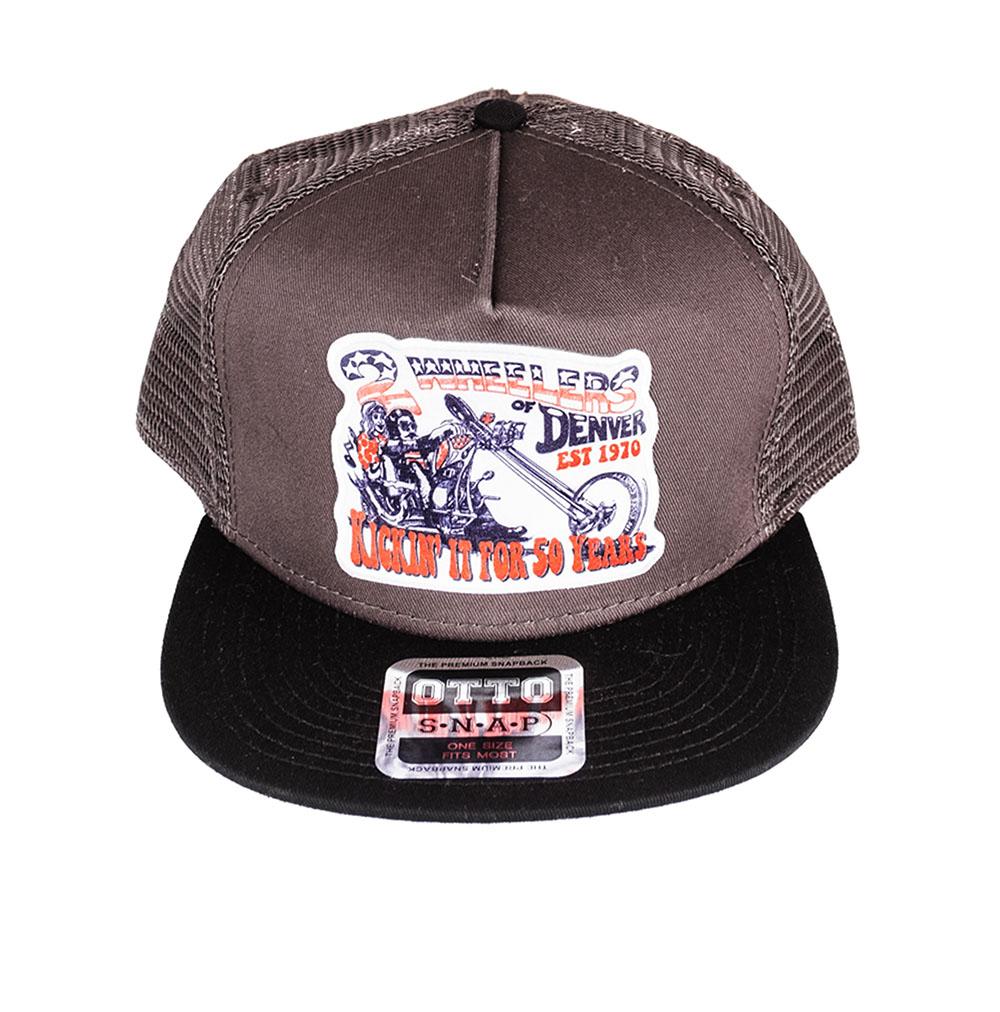 2 Wheelers – Chopper Hat (Grey)