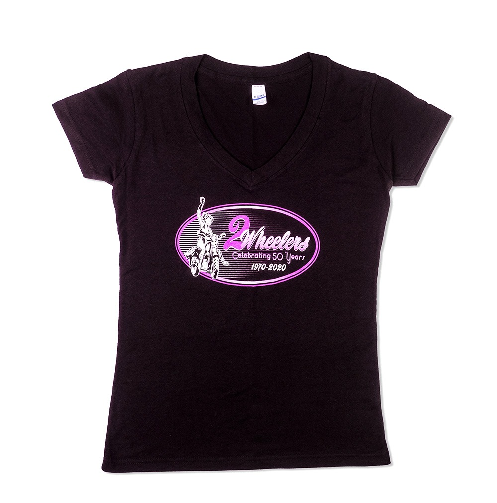 2 Wheelers – Ladies V-Neck